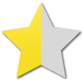 half yellow star