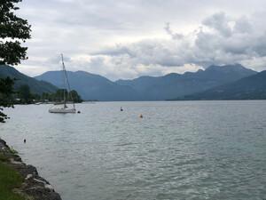Badeplatz Seezugang Steinwand Bild 4