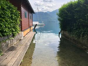 Badeplatz Seezugang Unterach Bild 2